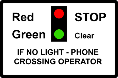 symbol vigilance: Miniature warning lights at level crossings sign