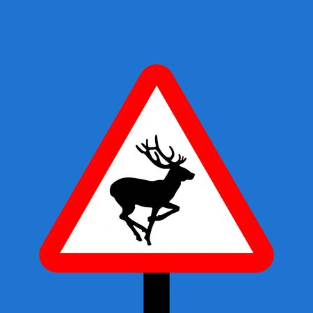 symbol vigilance: Warning triangle Wild animals sign