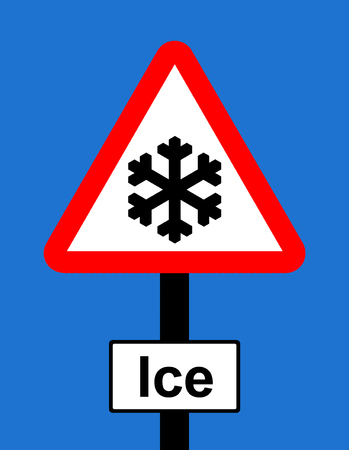 symbol vigilance: Warning triangle Risk of ice sign Stock Photo