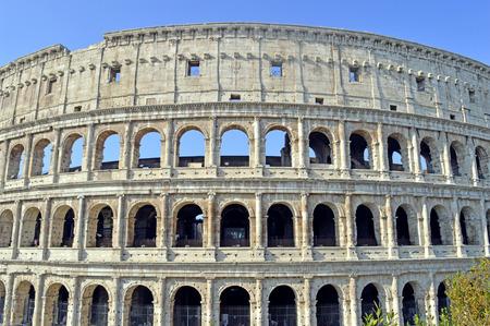 amphitheatre: The historical Roman Colosseum Amphitheatre in Rome Stock Photo