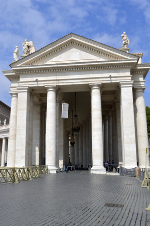 The Trapezoidal entrance to the Basilica in the Vatican City