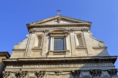 The historical Santa Maria dei Monti church in Rome Stock Photo