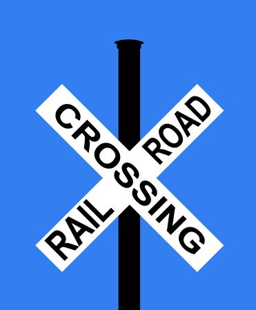 symbol vigilance: Railroad crossing with barrier or gate ahead
