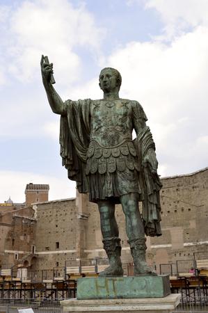 spqr: Bronze statue of Nerva in the Forum Romanum, Rome