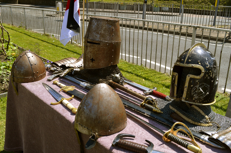 armaments: Display of knights armour and armaments