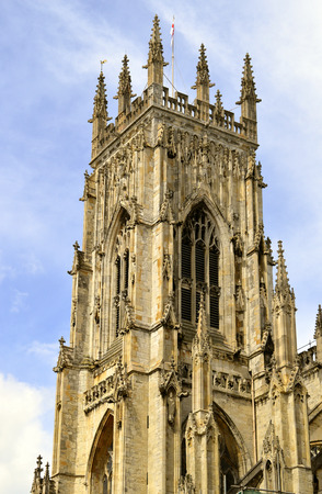 York, Yorkshire, England, UK - May 22, 2016 : The historical York Minster the cathedral of York