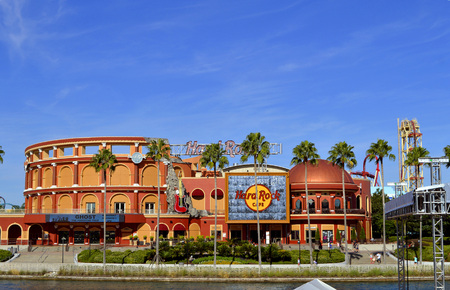 Hard Rock Cafe in the Universal Orlando Resort adventure theme park