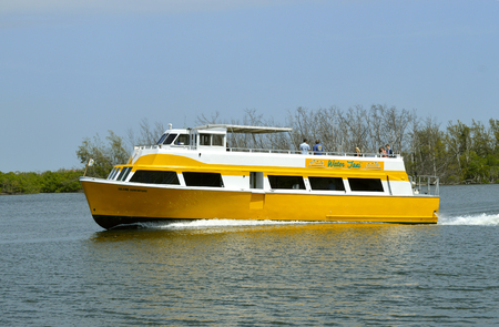 intercoastal: Water taxi on the Fort Lauderdale intercoastal waterway Stock Photo