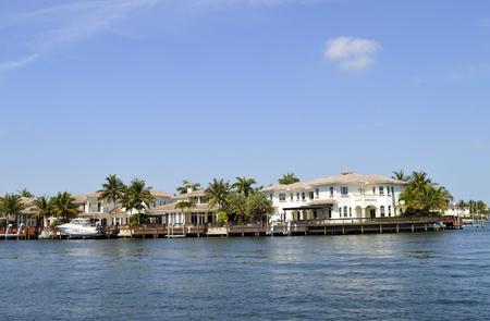 intercoastal: Fort Lauderdale intercoastal waterway Stock Photo