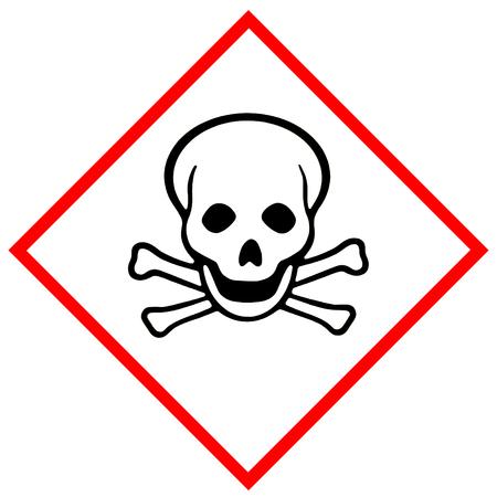 急性毒性 (記号: 頭蓋骨と海賊) 写真素材