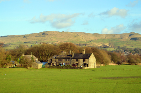 Farmhouse in Friezland in the Peak District National Park 新聞圖片