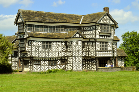 Little Moreton Hall a moated half-timbered manor house built in the 16th century