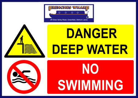 Frenches Wharf danger deep water no swimming sign