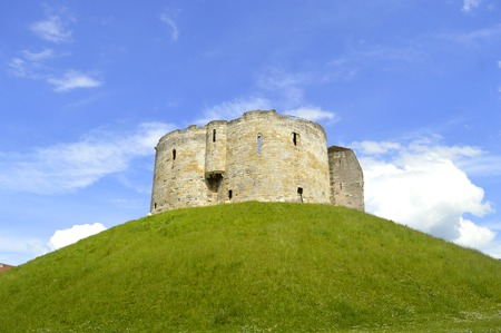 The historical York Castle in the city of York commonly referred to as Cliffords Tower Stock Photo