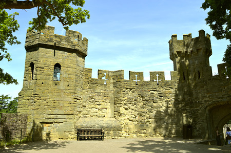 The historical medieval Warwick Castle in Warwickshire