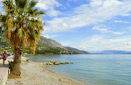 Ipsos Beach in Corfu a Greek island in the Ionian sea Stock Photo