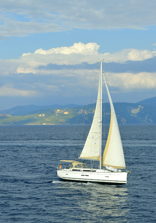Antipaxos a small island south of Corfu a Greek island yacht sailing in the Ionian sea Stock Photo