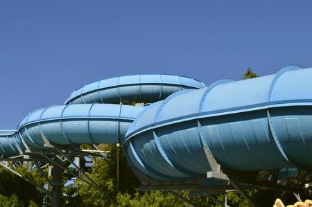 Aquatica Dolphin Plunge water slide in Aquatica water park Stock Photo