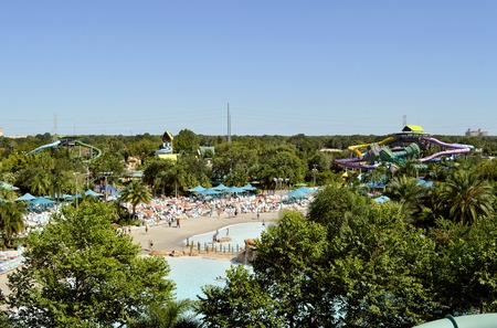 An aerial view of Aquatica theme park in Orlando Editorial