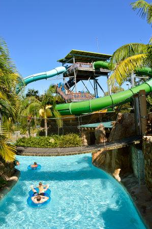 Children in Roas Rapids adventure play area in Aquatica water park Editorial