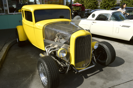 Ford Deuce coupe 1932 on show in the theme park
