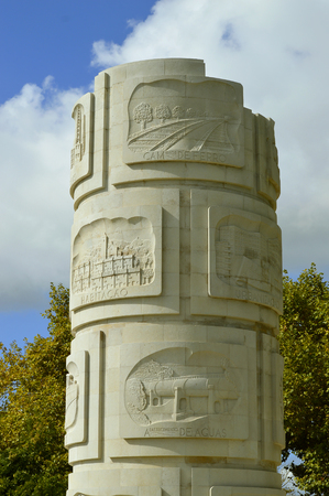 Column dedicated to the Portuguese engineer Duarte Pacheco in Loule 免版税图像