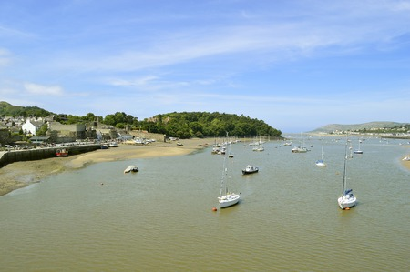 Scenic Conwy harbour in North Wales