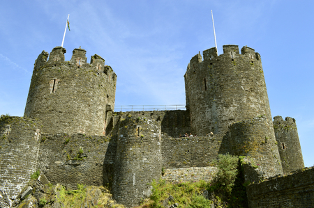 Historical Conwy Castle a medieval castle in North Wales Editorial