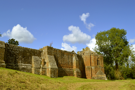The historical Kenilworth Castle in Warwickshire