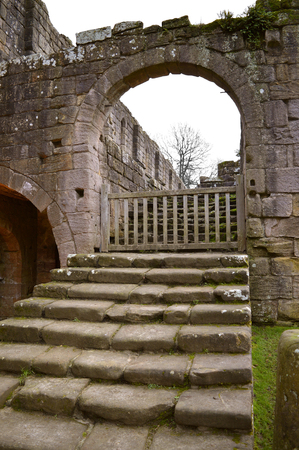The historical 13th century Fountains Abby old exit