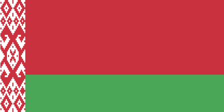 Belarus flag the national flag of the Republic of Belarus