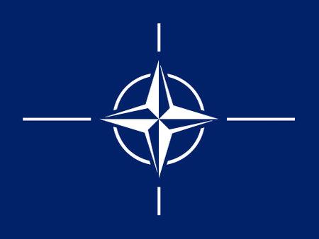 The flag of the North Atlantic Treaty Organization (NATO)