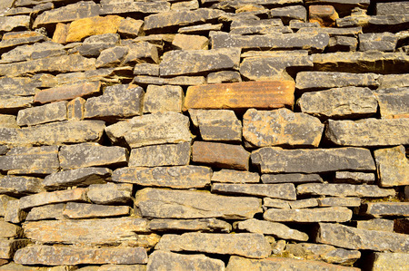 Traditional dry stone wall in Littleborough Rochdale