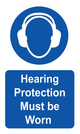 Hearing protection must be worn Health & Safety sign Reklamní fotografie