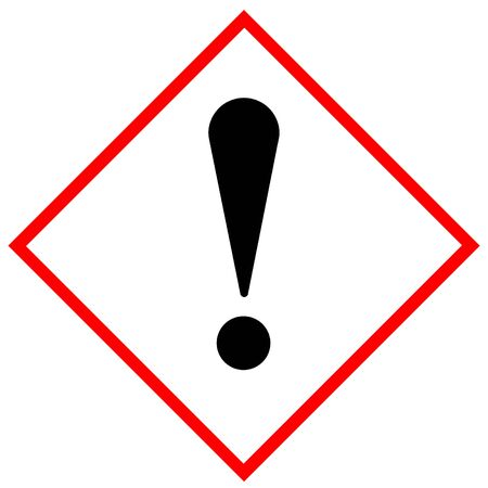 Harmful irritant (symbol exclamation point) sign