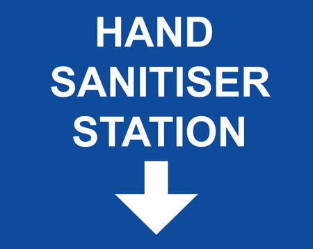 Direction to the Hand sanitiser station position sign