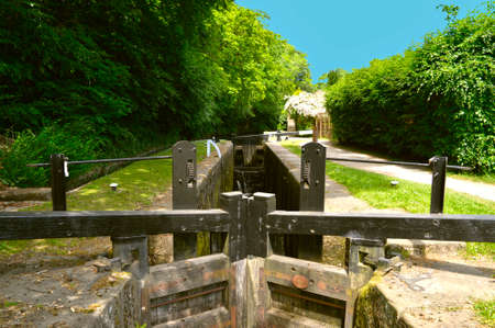 Huddersfield Narrow Canal loch is a mechanical lifting devise used for raising and lowering boats from between stretches of water at different levels on the canal