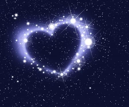 unendlich: Herz der Sterne Lizenzfreie Bilder