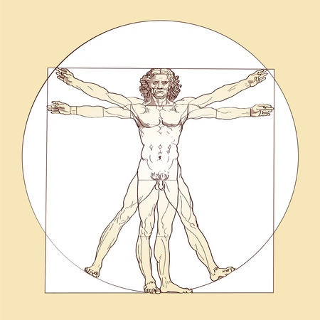 Hombre de Vitruvio - Leonardo da Vinci Foto de archivo - 20609693