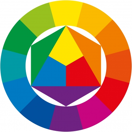 primary colours: Color Wheel Illustration