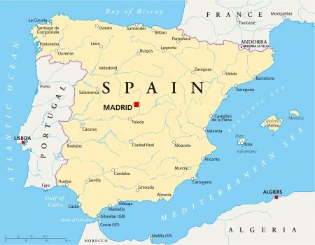 Spain Map Illustration
