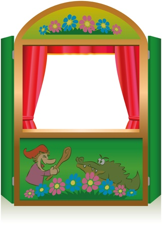 puppet show: Punch And Judy Booth