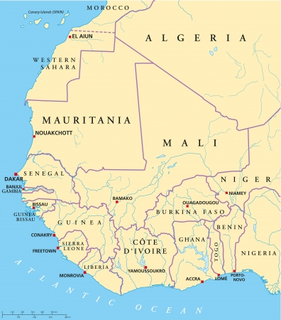 country nigeria: West Africa Map Illustration