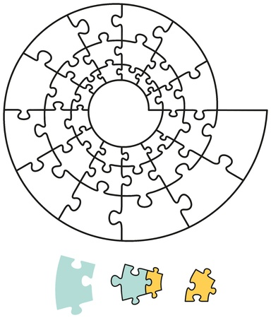Spiral Puzzle with single pieces