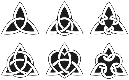 keltische muster: Celtic Knots Triangle Illustration