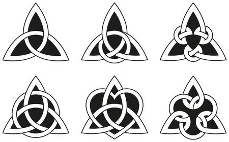 paganism: Celtic Triangle Knots Illustration