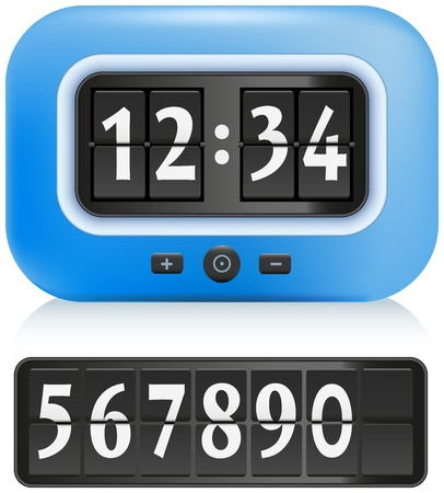 Alarm Clock with different numbers that can be exchanged