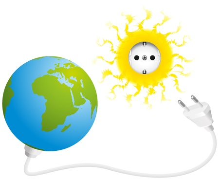 alternatively: Solar Energy Illustration