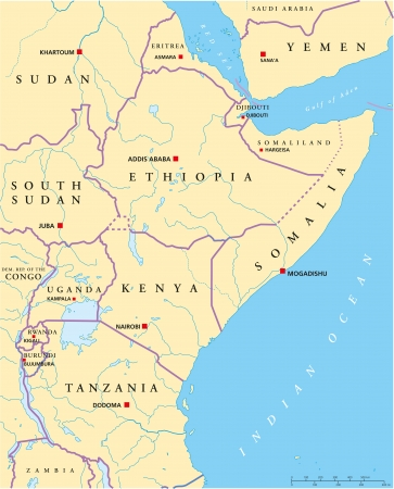 political map: East Africa Political Map