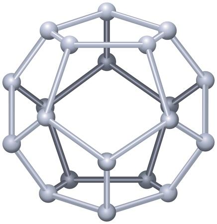 正十二面体 - ジオメトリのプラトニックな固体  イラスト・ベクター素材